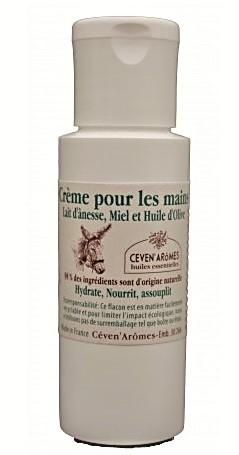Crème pour les mains au Lait d'ânesse, Miel et huile d'olive